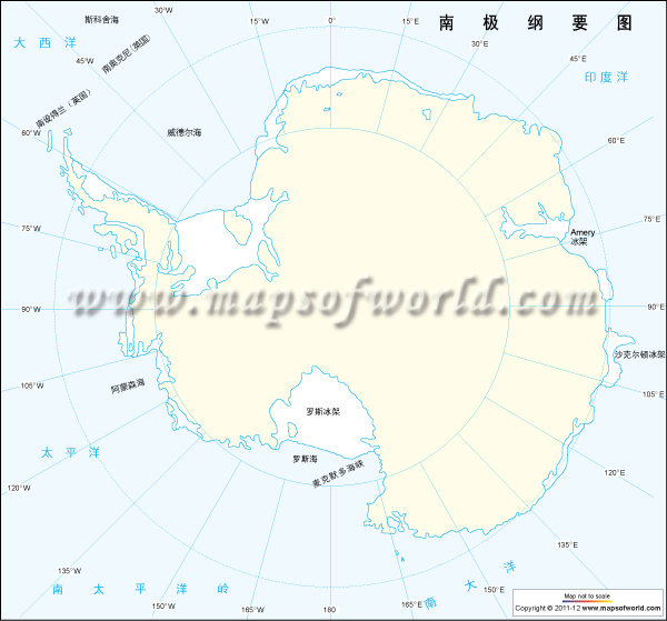 南极洲略图