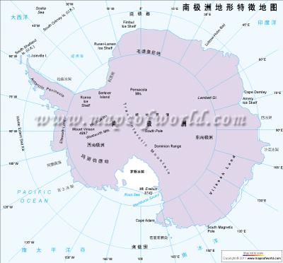 南极洲物理图谱