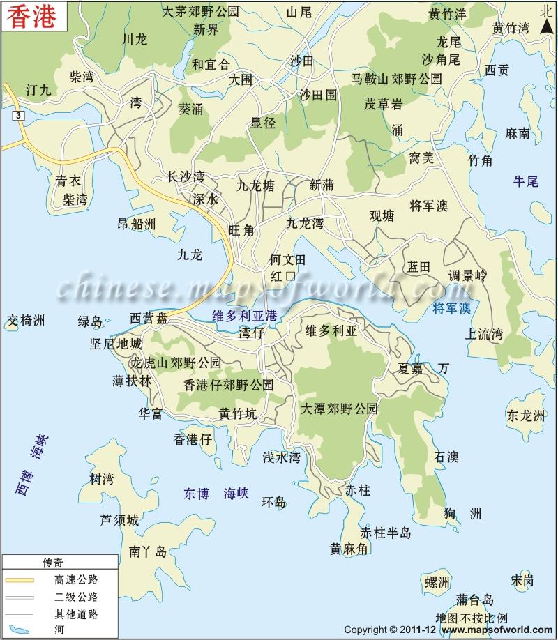 香港城市地图