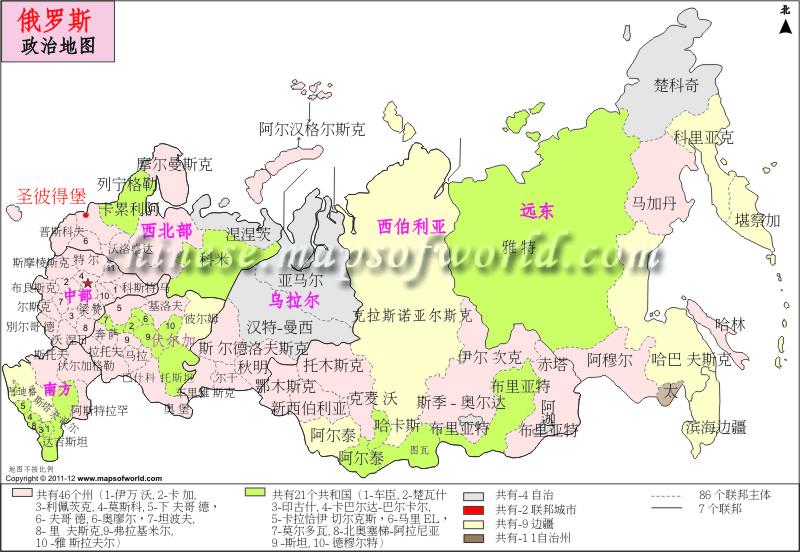 俄罗斯政治地图